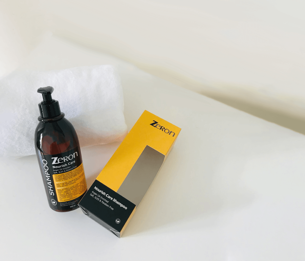 cleanse with zeron shampoo